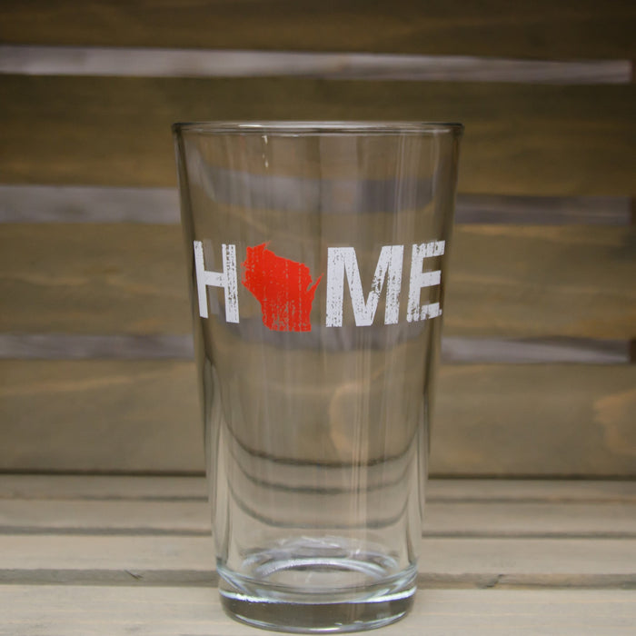 WISCONSIN PINT GLASS | HOME | RED