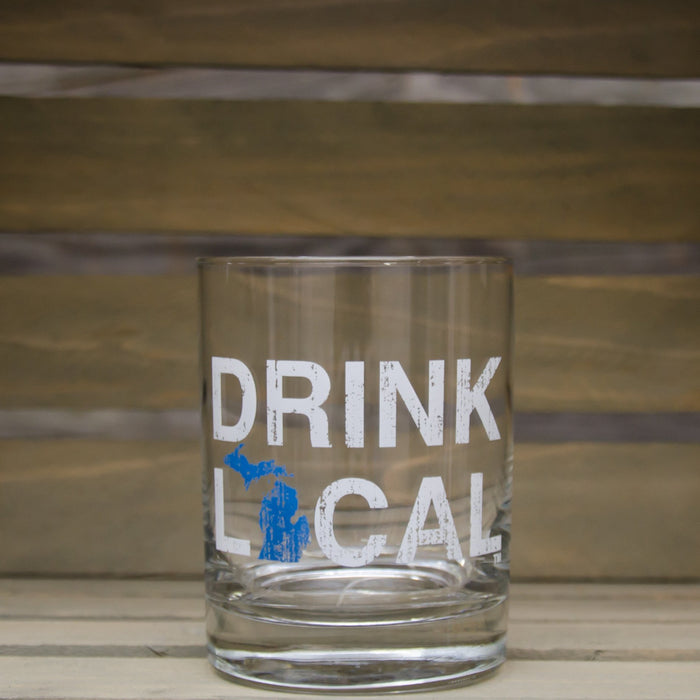 MICHIGAN ROCKS GLASS | DRINK | BLUE