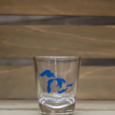 MICHIGAN SHOT GLASS | GREAT LAKES | BLUE