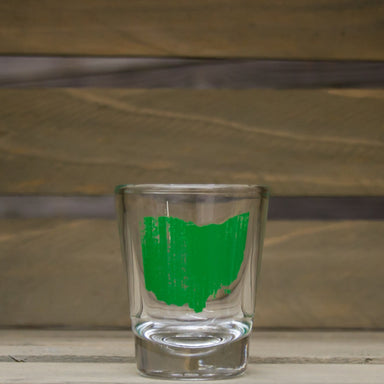 OHIO SHOT GLASS | STATE | GREEN