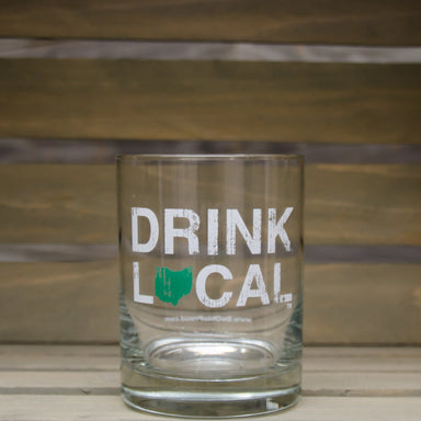 Ohio Rocks Glass | Drink Local | Green