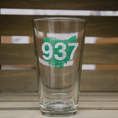 OHIO PINT GLASS | 937 | GREEN