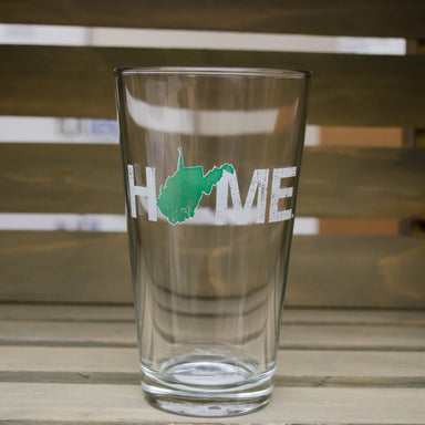WEST VIRGINIA PINT GLASS | HOME | GREEN