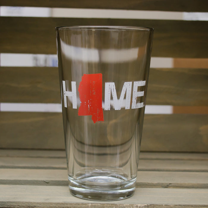 Mississippi Pint Glass | HOME | Red