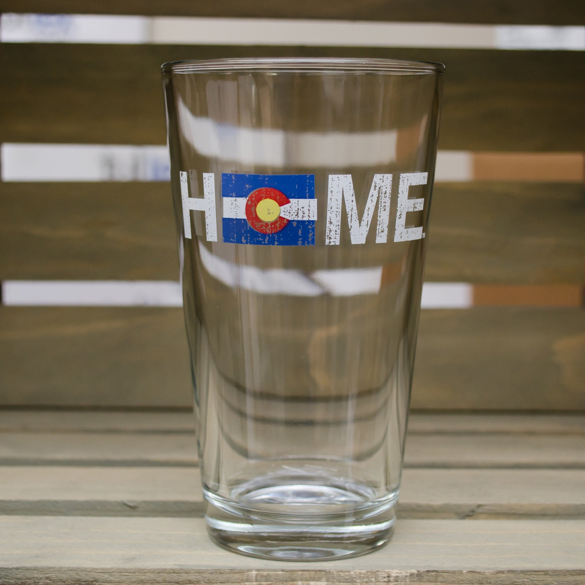 Colorado Pint Glass | Flag | Red/Blue/Gold