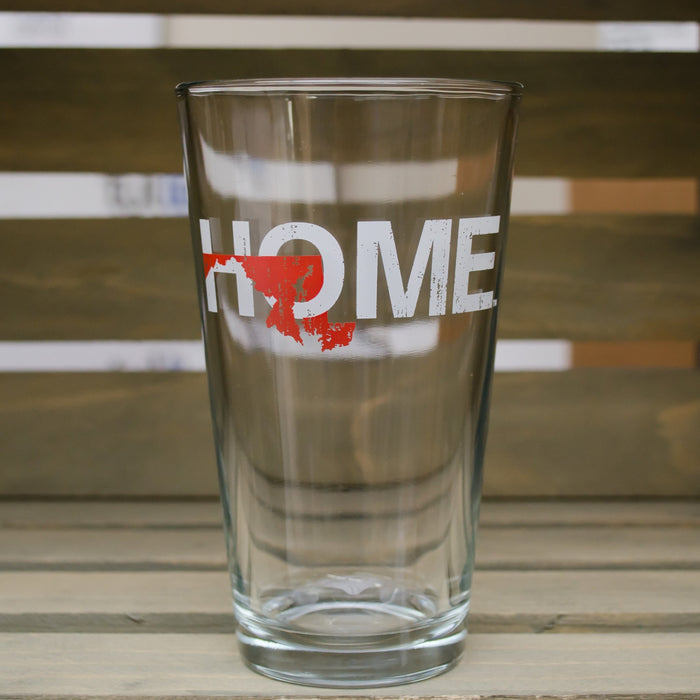 MARYLAND PINT GLASS | HOME | RED - My State Threads