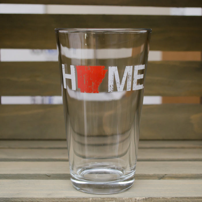 Arkansas Pint Glass | HOME | Red