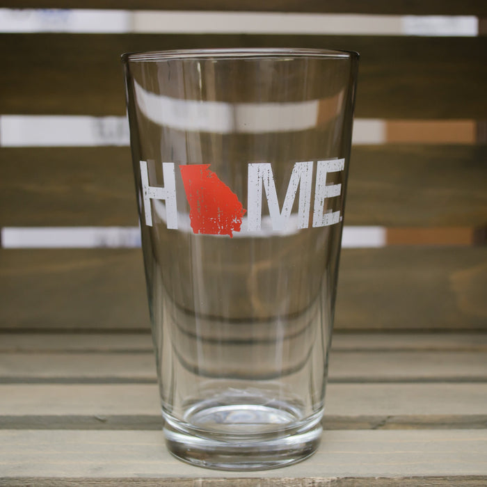 Georgia Pint Glass | HOME | Red