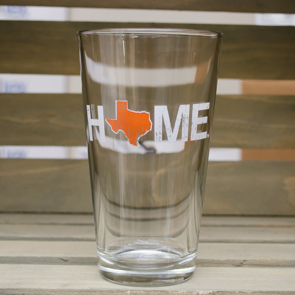 TEXAS PINT GLASS | HOME | ORANGE