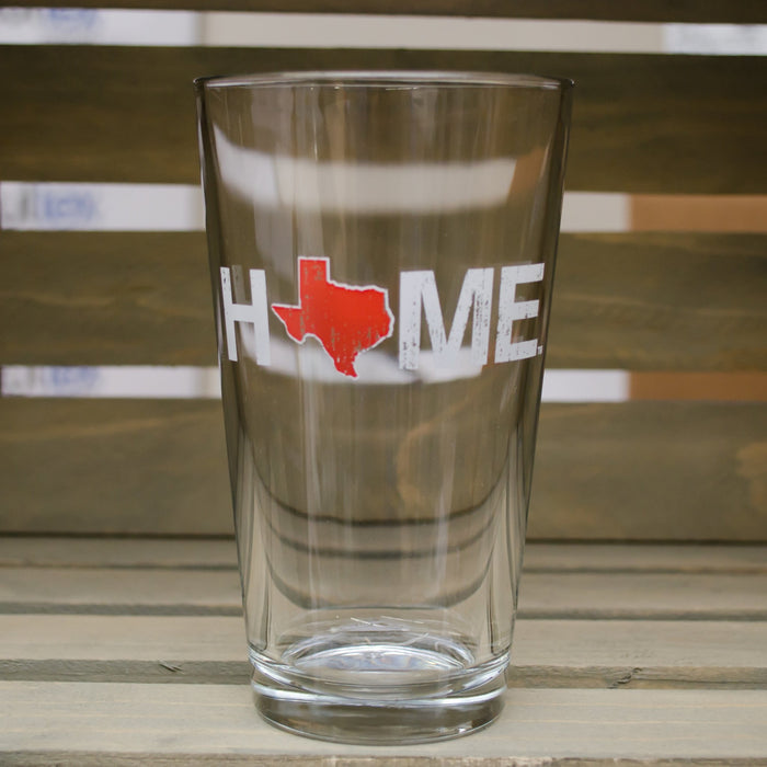 TEXAS PINT GLASS | HOME | RED