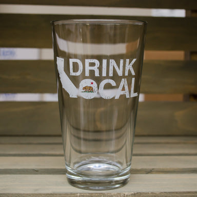 CALIFORNIA DRINK LOCAL - Pint Glass - My State Threads