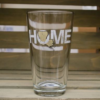 LOUISIANA PINT GLASS | HOME | GOLD - My State Threads