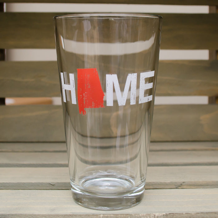 Alabama Pint Glass | HOME | Red