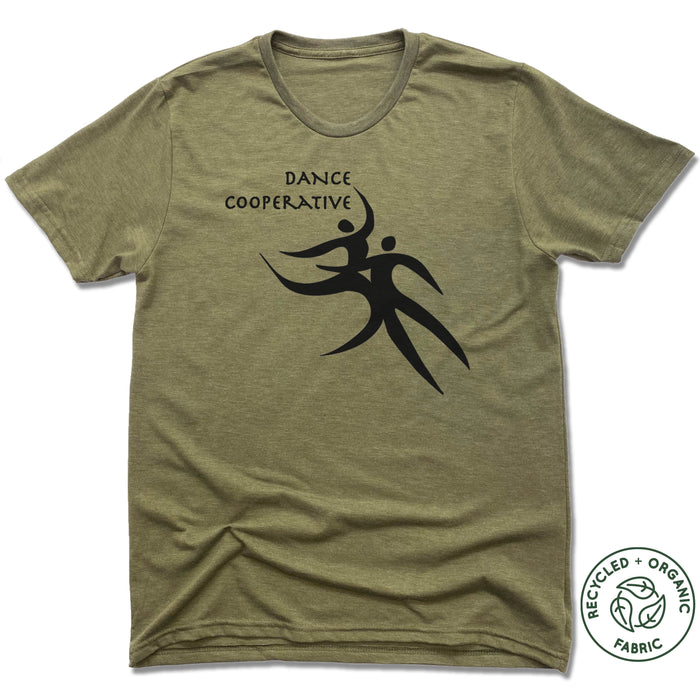 DANCE COOPERATIVE | UNISEX OLIVE Recycled Tri-Blend | BLACK LOGO