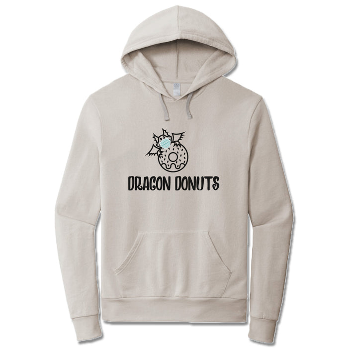 DRAGON DONUTS | LIGHT GRAY FRENCH TERRY HOODIE | DRAGON MASK