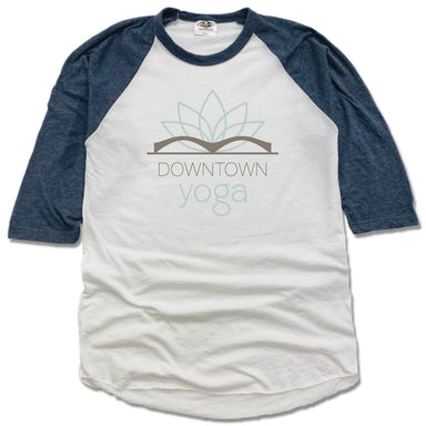 DOWNTOWN YOGA | NAVY 3/4 SLEEVE | COLOR LOGO