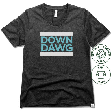 YOGA MIX ORLANDO | FAIRTRADE FREESET BLACK LADIES TEE | DOWN DAWG