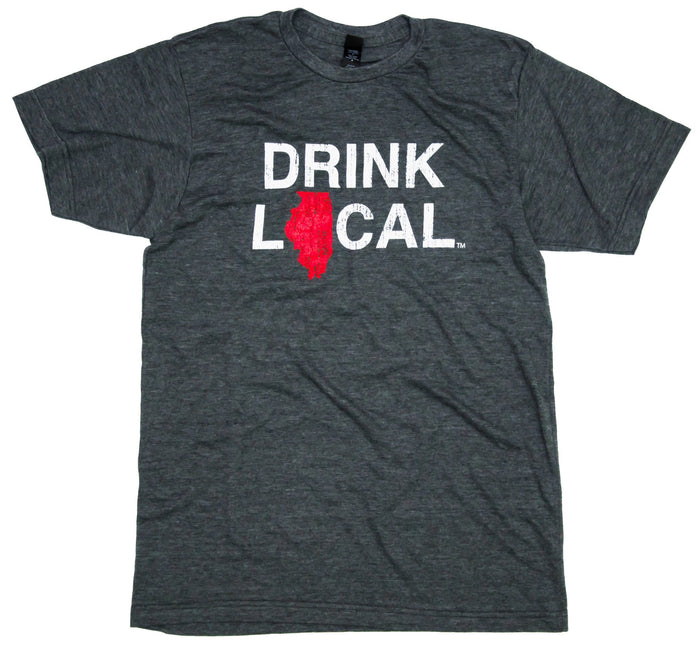 Illinois Tee | Drink Local | Red