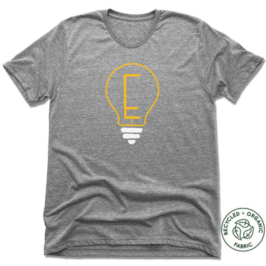 ENLIGHTENMENT COFFEE | UNISEX GRAY Recycled Tri-Blend | BLUB
