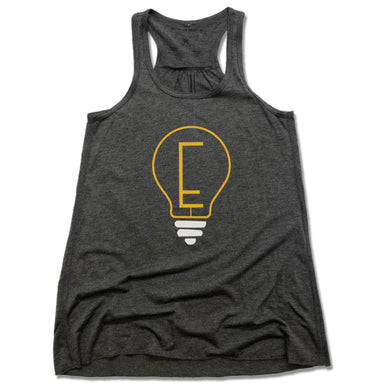 ENLIGHTENMENT COFFEE | LADIES GRAY FLOWY TANK | BLUB