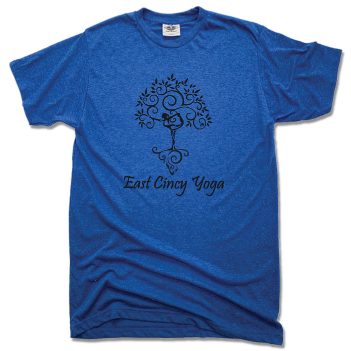 EAST CINCY YOGA | UNISEX BLUE TEE | TREE