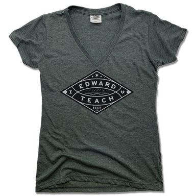 EDWARD TEACH BREWING | LADIES V-NECK | DESIGN