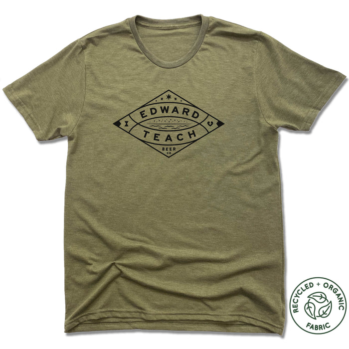 EDWARD TEACH BREWING | UNISEX OLIVE Recycled Tri-Blend | DESIGN