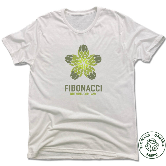 FIBONACCI BREWING COMPANY | UNISEX WHITE Recycled Tri-Blend | COLOR LOGO