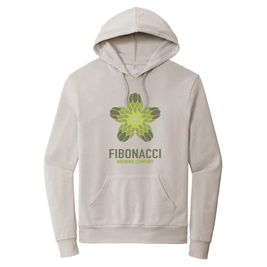 FIBONACCI BREWING COMPANY | LIGHT GRAY FRENCH TERRY HOODIE | COLOR LOGO