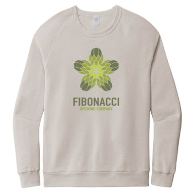FIBONACCI BREWING COMPANY | LIGHT GRAY FRENCH TERRY SWEATSHIRT | COLOR LOGO