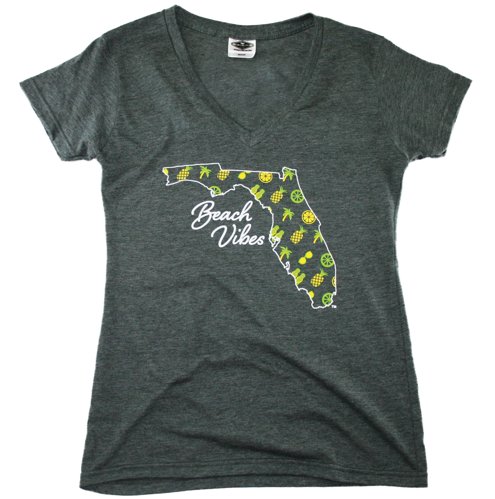 FLORIDA LADIES V-NECK | BEACH VIBES | SOUTHERN PATTERN
