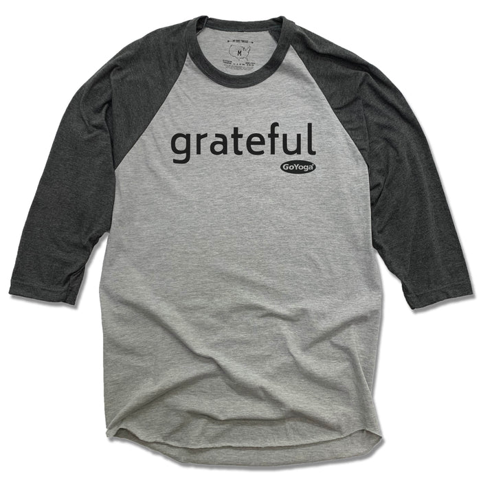 GO YOGA | GRAY 3/4 SLEEVE | GRATEFUL