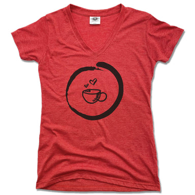 HOMETOWN CAFE | LADIES RED V-NECK | COFFEE MUG
