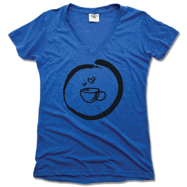 HOMETOWN CAFE | LADIES BLUE V-NECK | COFFEE MUG