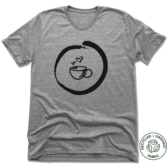 HOMETOWN CAFE | UNISEX GRAY Recycled Tri-Blend | COFFEE MUG