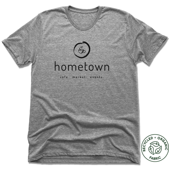 HOMETOWN CAFE | UNISEX GRAY Recycled Tri-Blend | LOGO