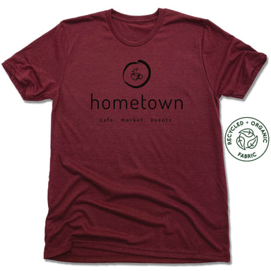 HOMETOWN CAFE | UNISEX VINO RED Recycled Tri-Blend | LOGO