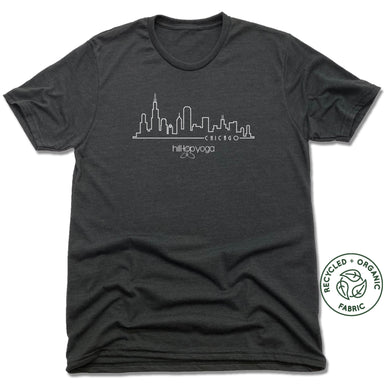 Hilltop Yoga | FAIRTRADE FREESET BLACK UNISEX TEE | Chicago