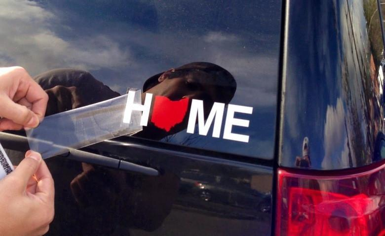 OHIO STICKER | HOME | RED