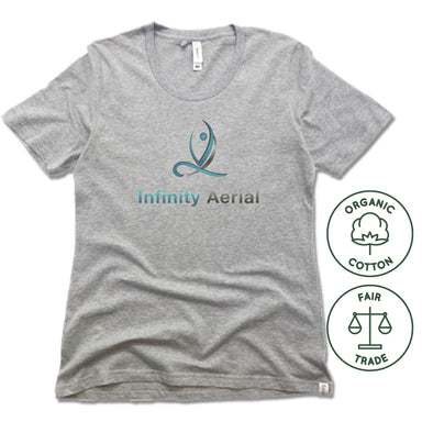 INFINITY AERIAL | FAIRTRADE FREESET LADIES TEE | LOGO