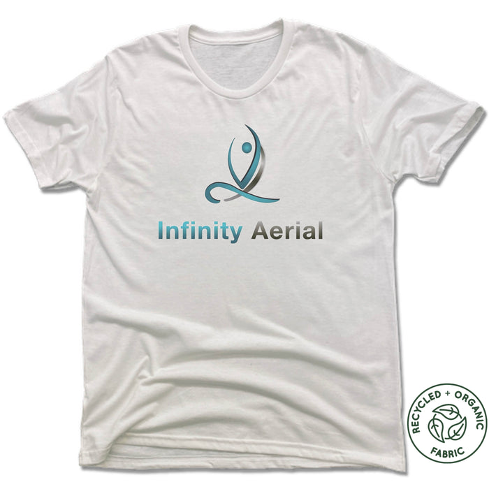 INFINITY AERIAL | UNISEX WHITE Recycled Tri-Blend | LOGO