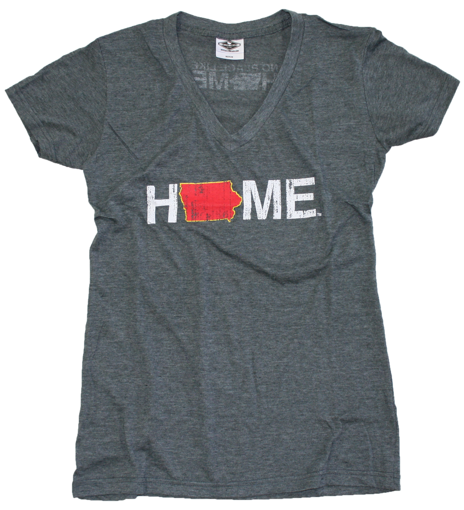 IOWA LADIES V-NECK | HOME | CARDINAL/GOLD