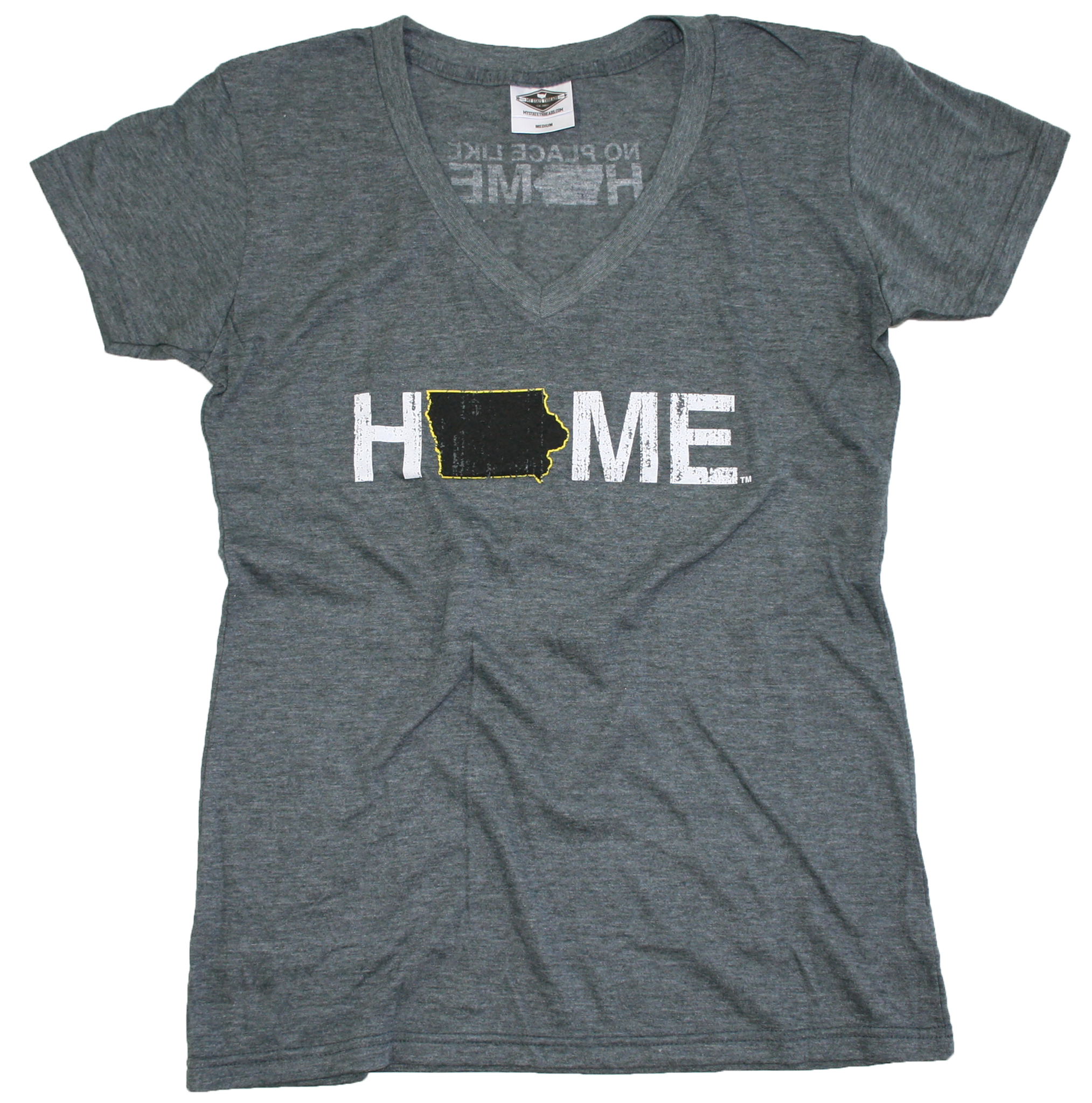 IOWA LADIES V-NECK | HOME | BLACK/YELLOW
