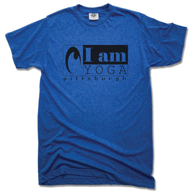 I AM YOGA PITTSBURGH | UNISEX BLUE TEE | BLACK LOGO