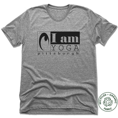 I AM YOGA PITTSBURGH | UNISEX GRAY Recycled Tri-Blend
