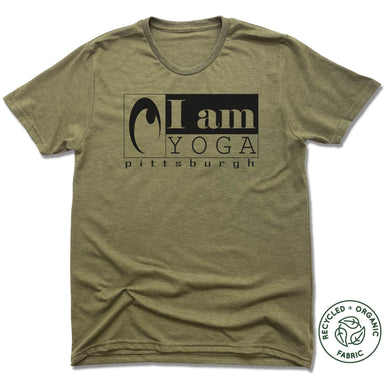 I AM YOGA PITTSBURGH | UNISEX OLIVE Recycled Tri-Blend