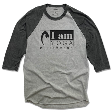 I AM YOGA PITTSBURGH | GRAY 3/4 SLEEVE | BLACK LOGO