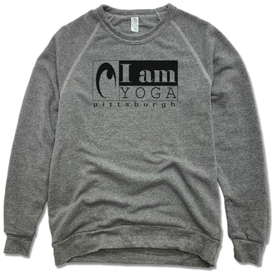 I AM YOGA PITTSBURGH | FLEECE SWEATSHIRT | BLACK LOGO