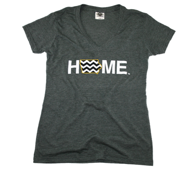 IOWA LADIES V-NECK | HOME | CHEVRON/BLACK - My State Threads