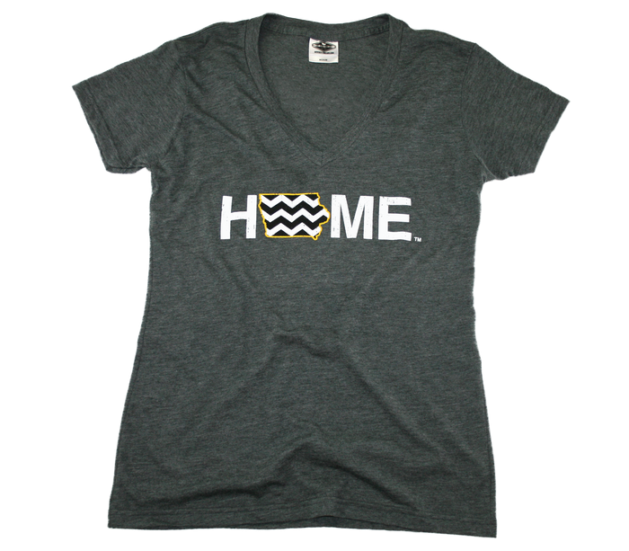IOWA LADIES V-NECK | HOME | CHEVRON/BLACK